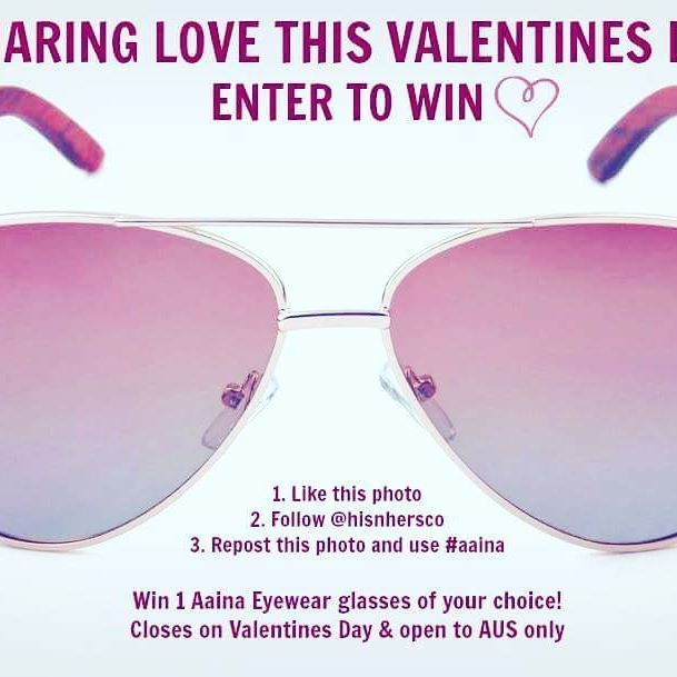Declare your love this Valentines Day with the premier designer Aaina Collection by His N' Hers Co  #repost #giveaway #february #love #valentines #australia #melbourne #designer #premiere #eyewear #expensive #exclusive #luxury #celebration #trending