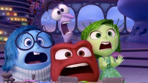 Inside Out: i personaggi del film d'animazione Disney-Pixar guardano il trailer di Avengers 2