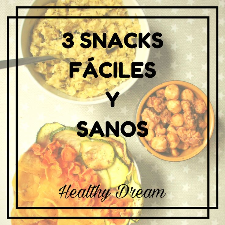Te traigo 3 snacks fáciles y sanos que puedes preparar tú misma. Puedes hornear tus propias chips de verduras, preparar tu mezcla preferida de frutos secos, o un delicioso dip casero con unos bastones de verduras.