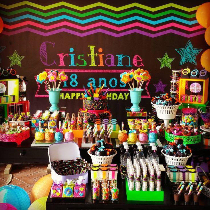 Como Fazer Festa Neon | Como Fazer Festas