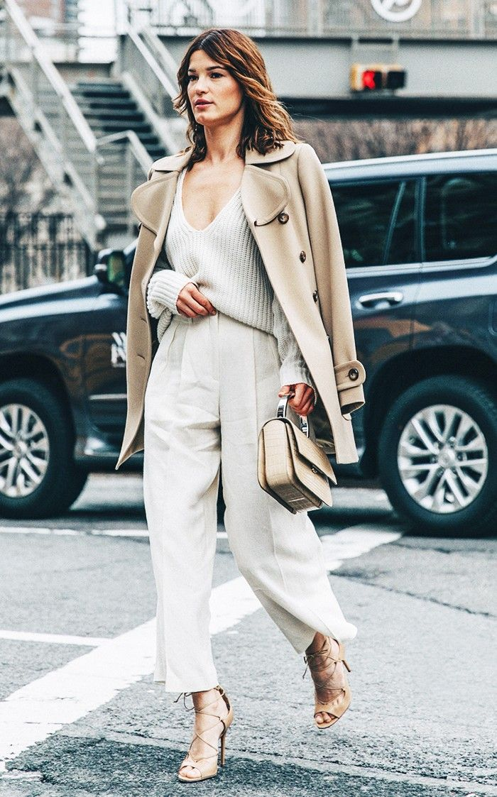 Day 2: Go for a full-on neutral outfit The Who What Wear 30-Day Spring Style Challenge via @WhoWhatWear