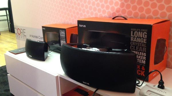 #Korus #V400 and #V600 speakers at #CEWeek2014 #CE Week  Korus #M20 wins Best in Show at CE Week!