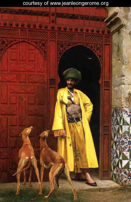 An Arab And His Dogs - Jean-Léon Gérôme - www.jeanleongerome.org