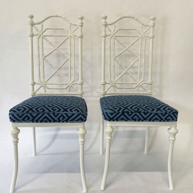 Love these White Faux Bamboo Chairs from OneKingsLanecom