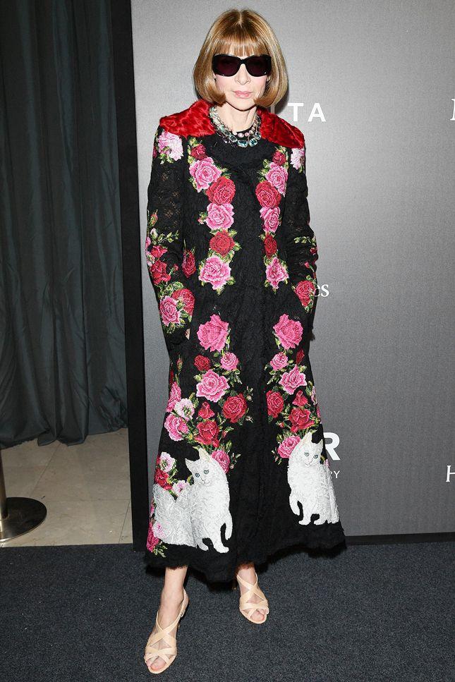 Анна Винтур в Dolce & Gabbana  Благотворительный вечер в честь итальянского Дома Missoni