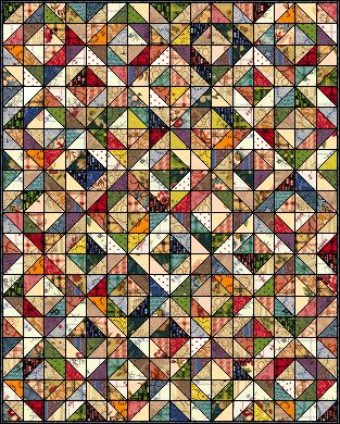 I guess this block is called Depression. Free pattern on Quilters Cache.