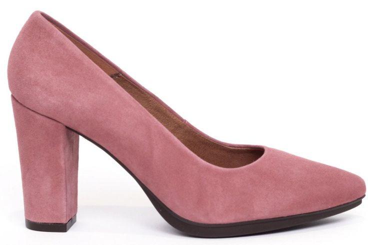 Zapato salón mujer tacón color rosa maquillaje cómodo - Comfort women's shoes pump heel pale pink- miMaO Urban