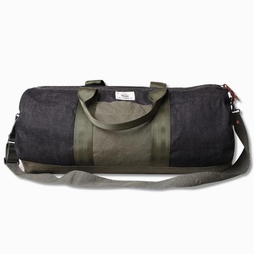 Black Selvedge Duffel Bag w/Nylon Details