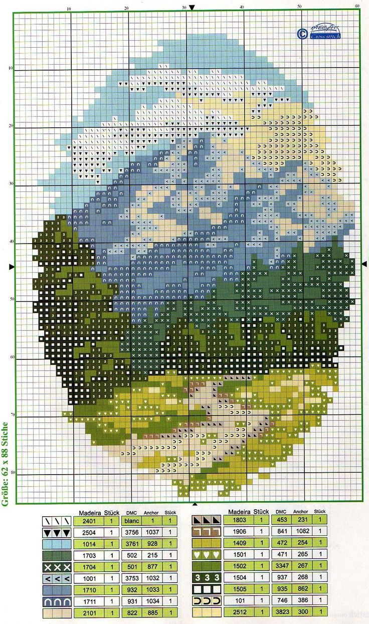 Mountain path cross stitch. This image only