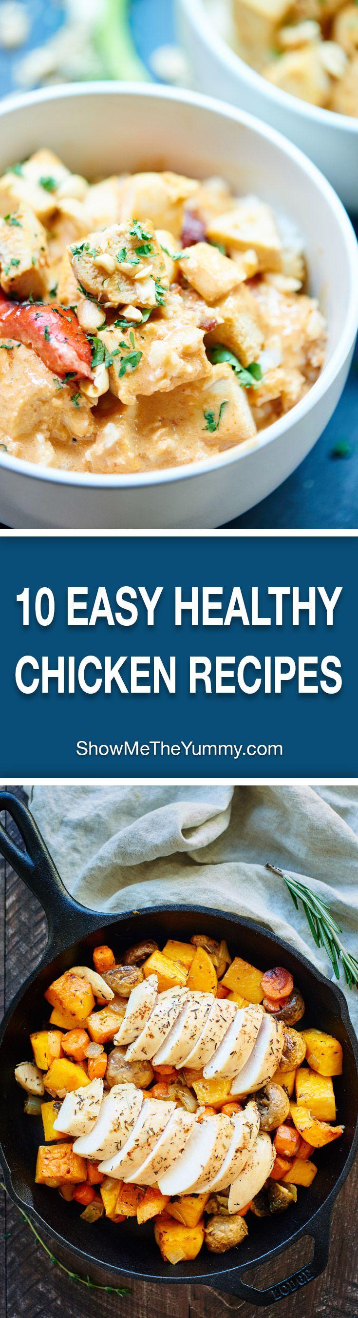 10 Easy Healthy Chicken Breast Recipes Chicken Breasts