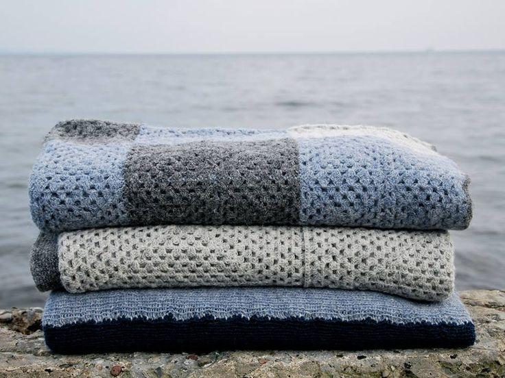 Danish design by nor:den Danish Design. Handmade blankets. Cold Nordic colors from nor:den
