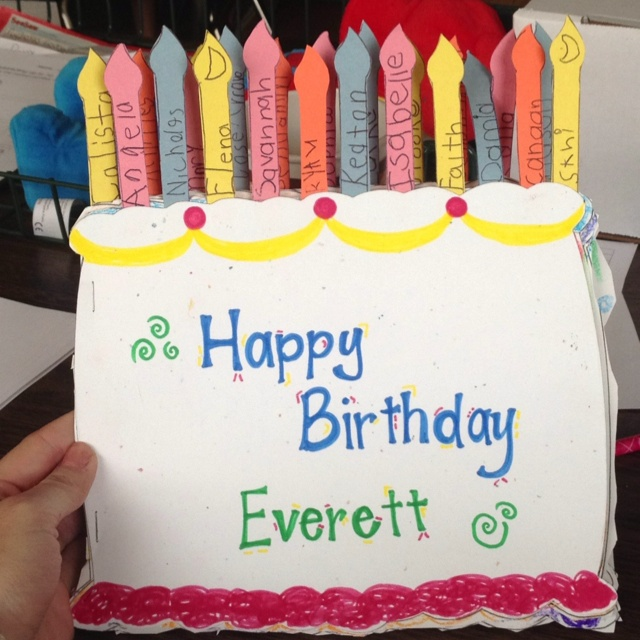 Birthday Card For Teacher From Class