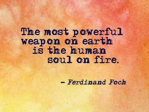 human soul on fire...