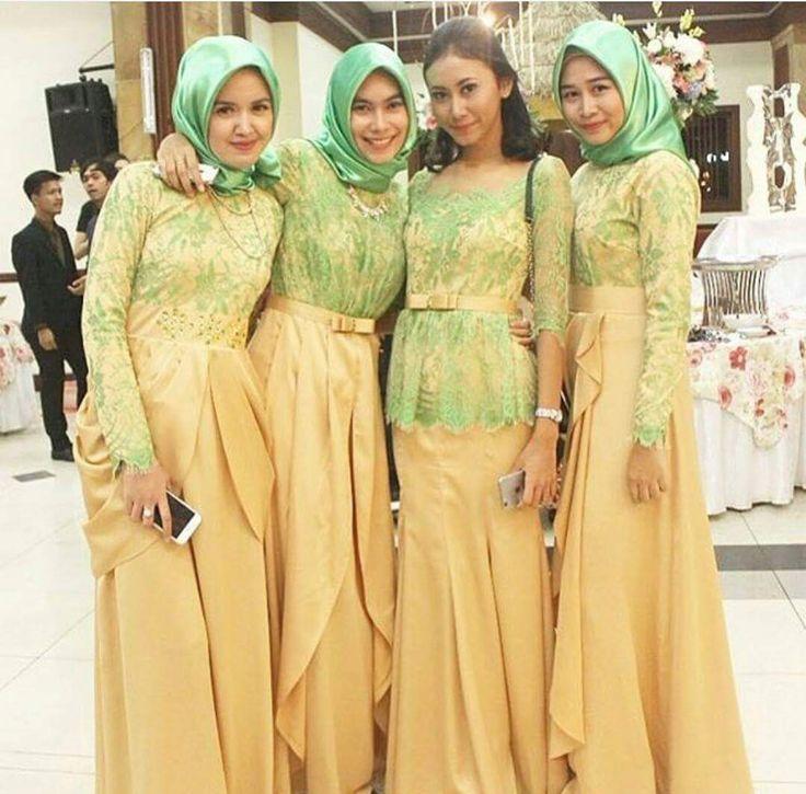Model Kebaya Seragam Muslimah Trend 2016 Pernikahan Acara Keluarga Pesta Resmi