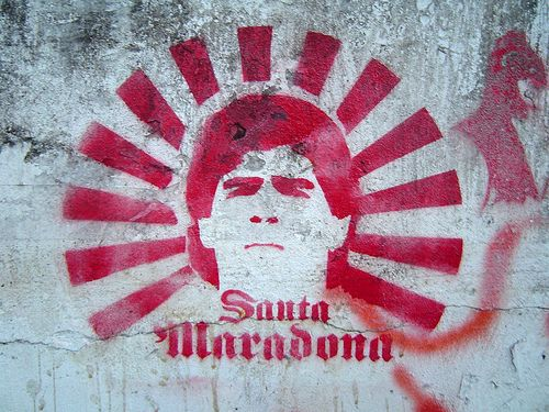 maradona arte callejero
