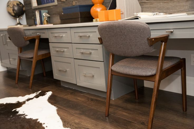 Basement   Desk Area Cabinetry   KRAFTMAID