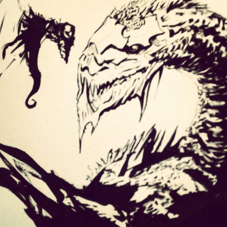 Dragones en tinta