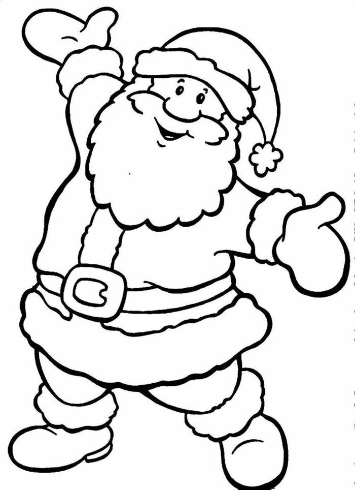 1001 Ideas De Dibujos Navidenos Para Colorear Papa Noel Para Pintar Dibujo Navidad Para Colorear Papa Noel Dibujo