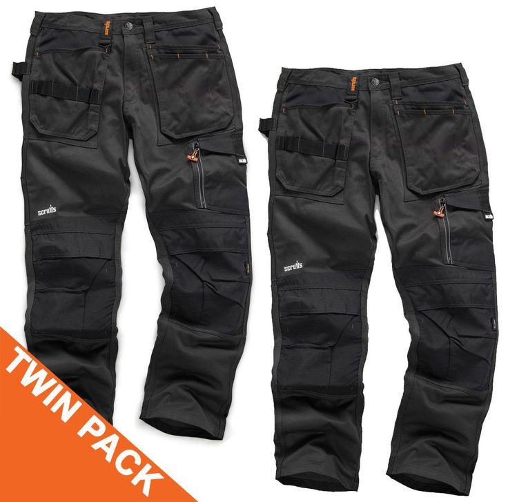 Scruffs Grey Twinpack 3D Trousers | Mad4Tools