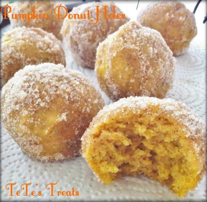 Baked Pumpkin Donut Holes- TeTe's Treat First Pumpking Recipe this ...
