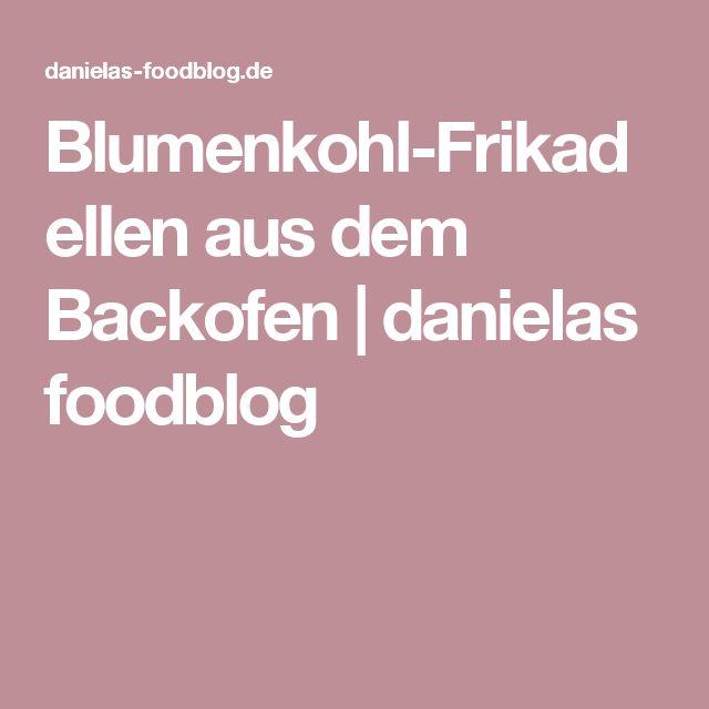 Blumenkohl-Frikadellen aus dem Backofen | danielas foodblog