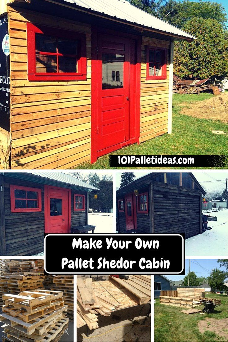 Make your own pallet shed or cabin everything pallets for Build your own cottage