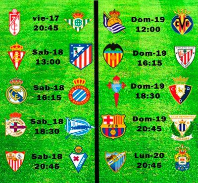 La Liga Full: Horario Jornada 23