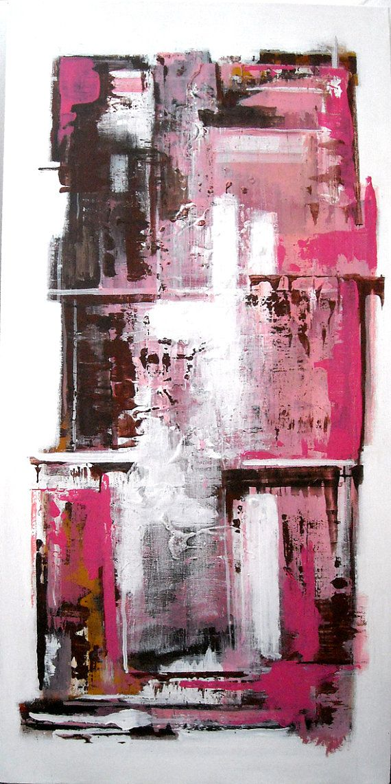 Abstract art in Pinks