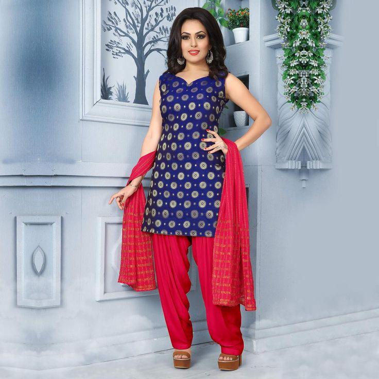 Buy Pleasing Blue Pure Banarasi Silk Jacquard Designer Patiala Suit at Rs. 2049- Get latest Patiala Suit for womens at Ethnic Factory. ✓Genuine Products ✓ Easy Returns ✓ Best Pricing #Ethnicfactory #Fairprice #patialasuit #Fashion