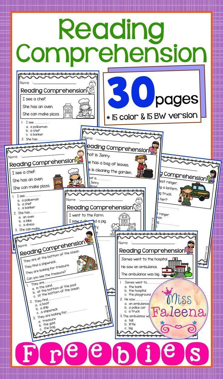Free Reading Comprehension Is Suitable For Kindergarten Students Or Beginning Readers Thi Reading Comprehension Reading Comprehension Worksheets Comprehension [ 1251 x 736 Pixel ]