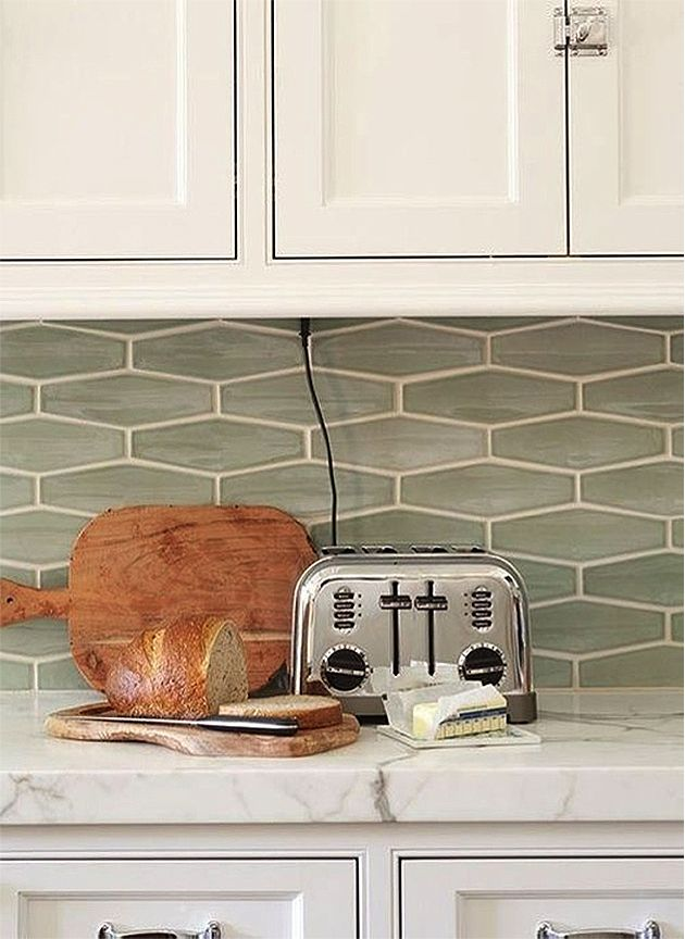 A New Take On Standard Subway Tile Stone Kitchen Backsplash Tiles