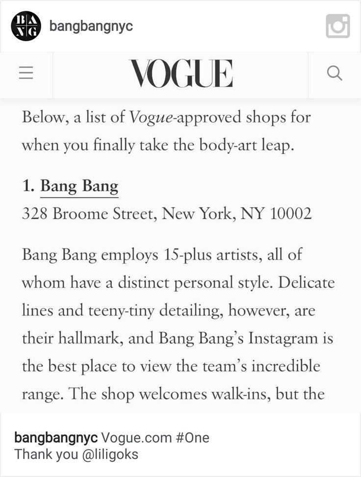 JP Wikman Guestspot @Bang Bang New York City July 2016 #bangbang #bangbangforever #bangbangnyc #newyorktattoo #vogue