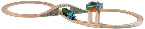Thomas & Friends Wooden Railway - Coal Hopper Figure 8 Set by Fisher-Price. $31.95. Easy-to-assemble track. All aboard for fun with this Figure 8 starter set. Expand your world of Thomas and Friends and create your very own Thomas adventures. Press on Coal Hopper to load the cargo car with coal. Includes Thomas, cargo car, removable coal cargo. From the Manufacturer                Help Thomas be a really useful engine in our Wooden Railway Figure 8 Coal Hopper play set. Ride Thom...