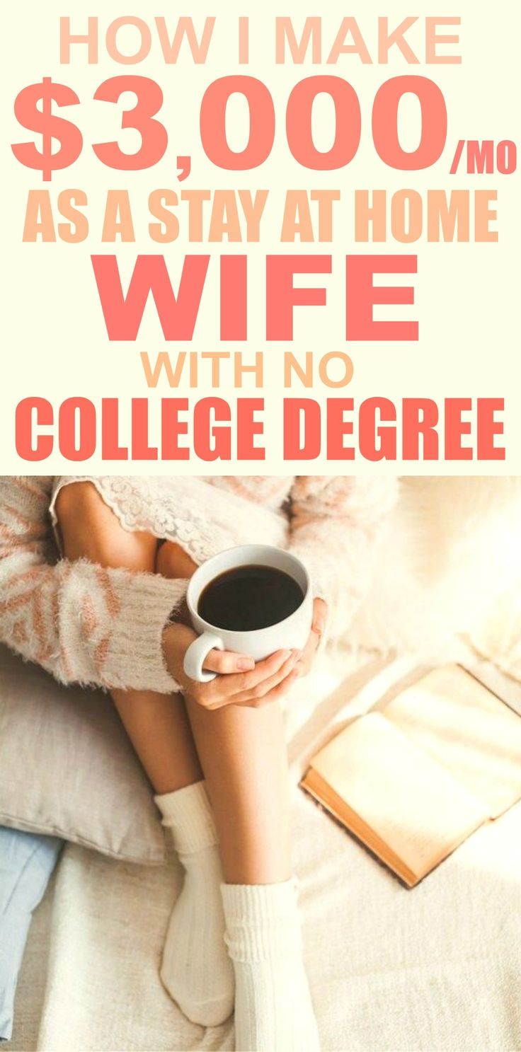 How this person made $3,000 a month as a stay at home wife with no college degree is AWESOME! I'm so glad I read this! It's so inspirational and puts me right on the best path! Definitely pinning for later!