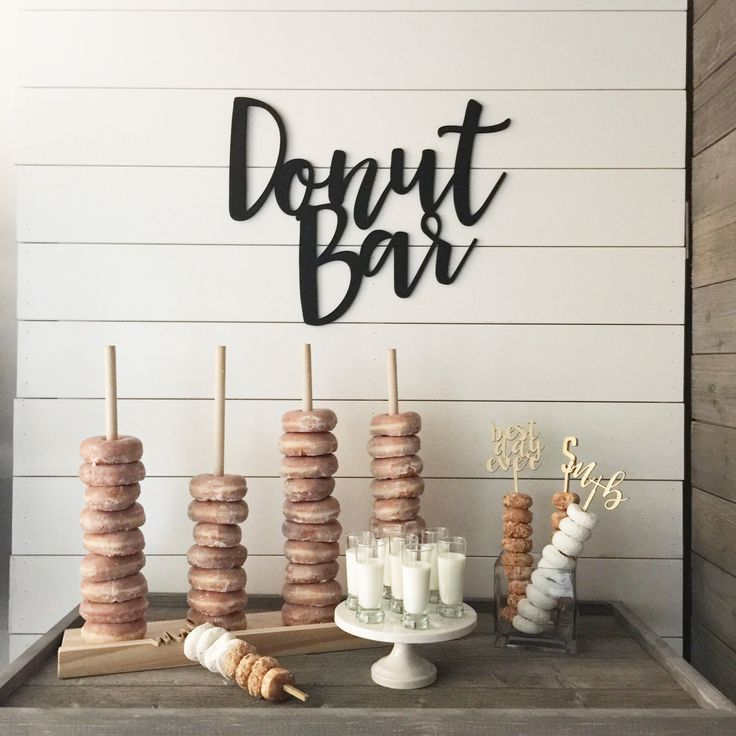 A personal favorite from my Etsy shop https://www.etsy.com/listing/476456072/donut-bar-lettering-wedding-sign-dessert