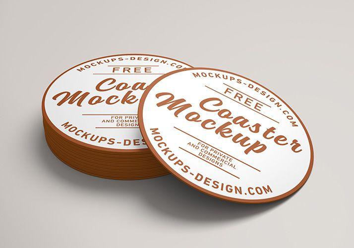 Free Round Coaster Mockup Mockups Design Free Psd Mockups Templates Mockup Psd Mockup Template