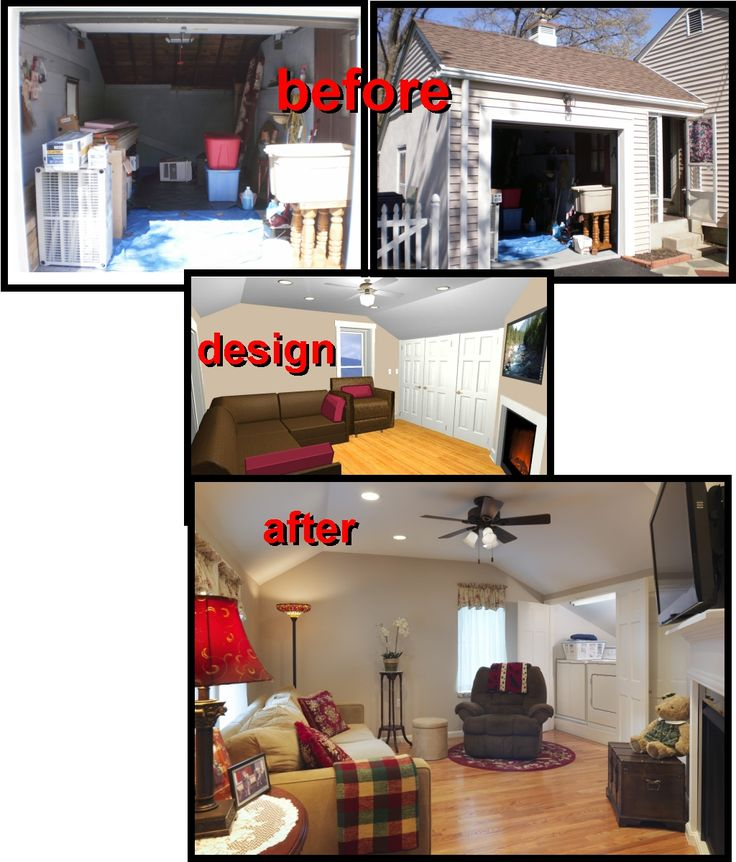 Before And After Garage Remodels: 212 Best Garage Renovations Images On Pinterest