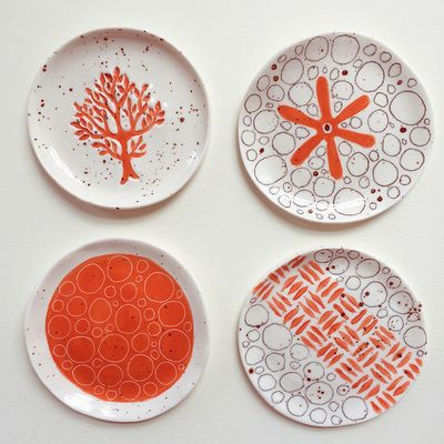 """enjoyment of pattern and colour on her ceramics"" - Sally McGill"