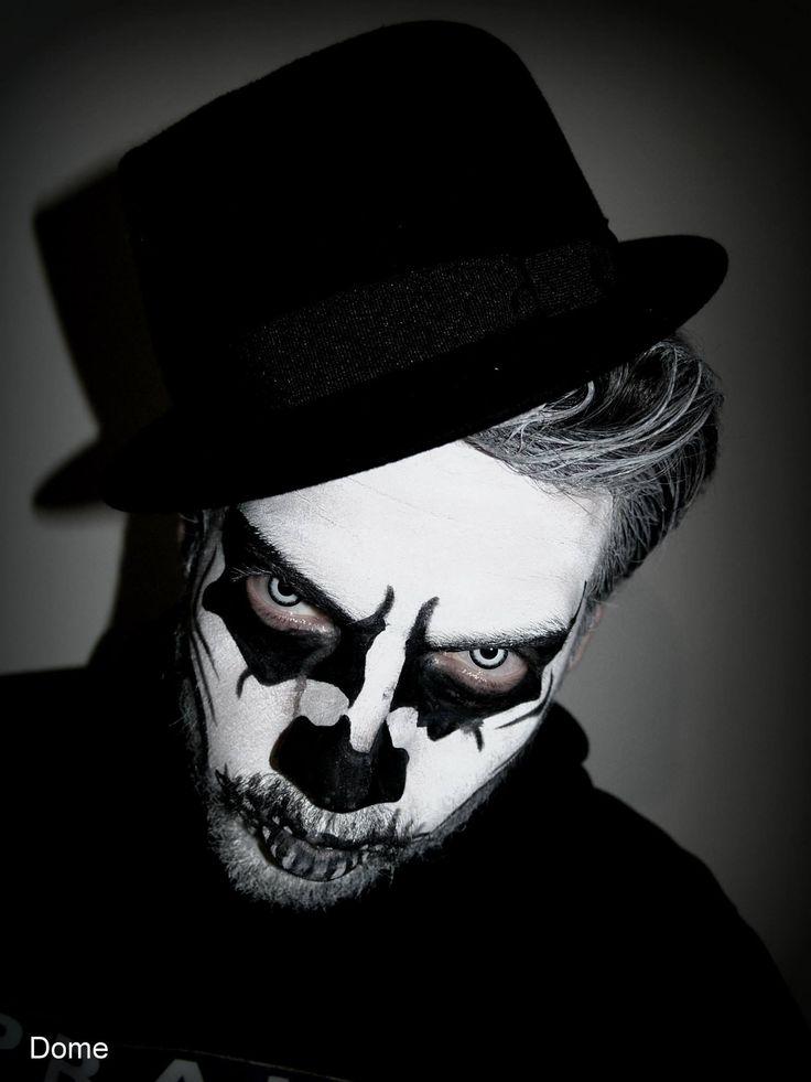 makeup skull - halloween makeup - white eyes - photo halloween