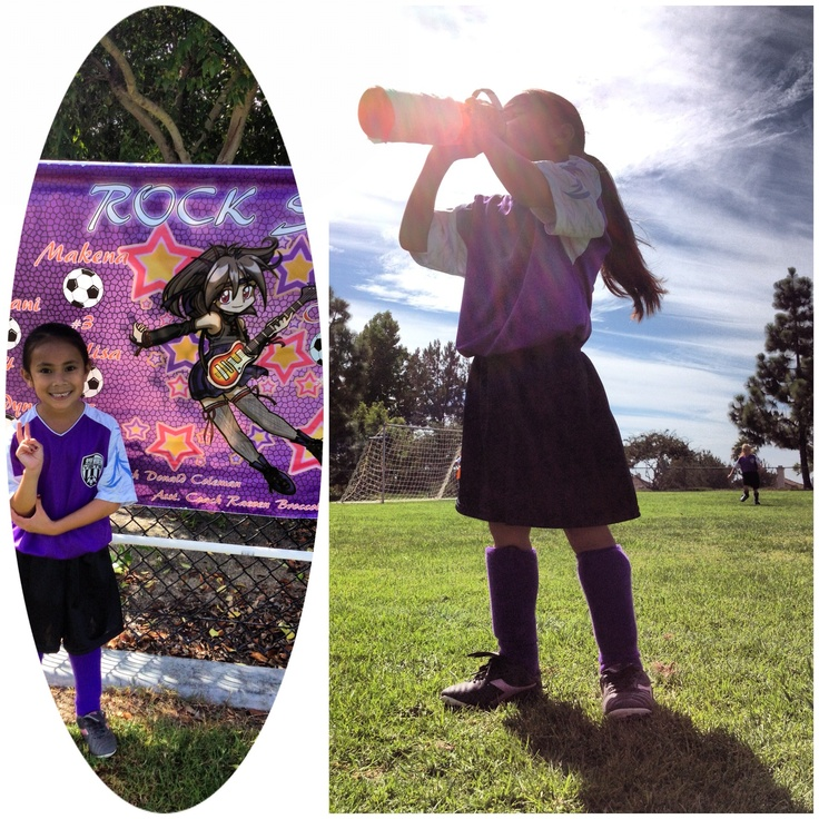 Being a soccer uncle today, cheering on our #2, a Rockstar.
