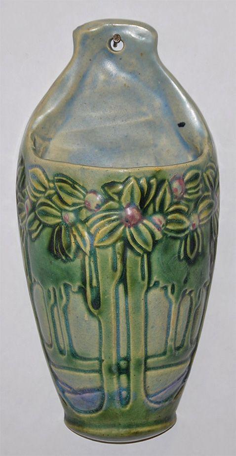 roseville pottery vista wall pocket from just art pottery
