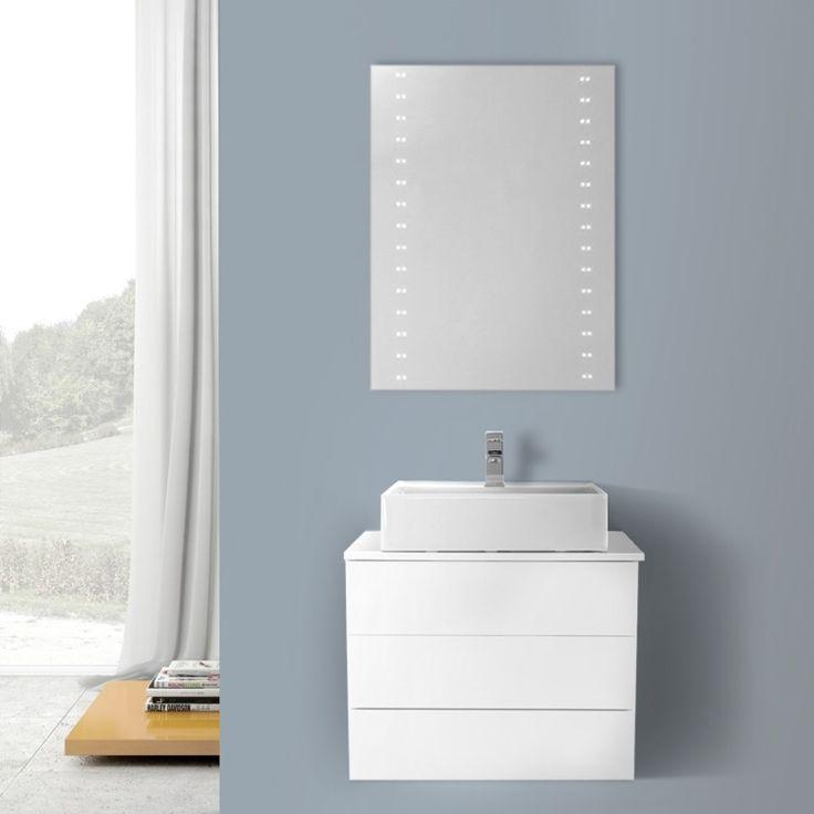 Image Of Bathroom Vanity Iotti TN Inch Glossy White Vessel Sink Bathroom Vanity Wall