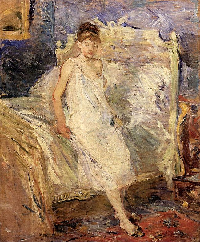 Getting Up, Berthe Morisot. French Impressionist Painter (1841-1895)