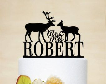 Wedding Cake TopperEngraved Mr Mrs Cake Topper Mr Mrs by DesignCMC