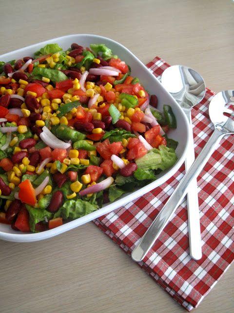 Πολύχρωμη και εορταστική μεξικάνικη σαλάτα - The one with all the tastes