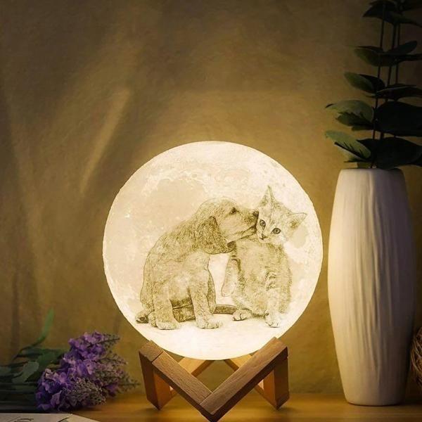 Personalisierte 3d Mondlampe Waagemann In 2020 Mond Lampe Lampe Nachtlicht