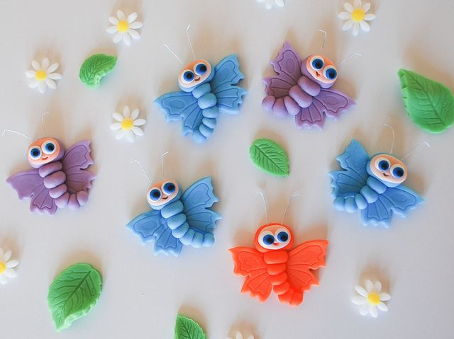 Nara bugs waybuloo butterfly cake toppers edible by Lucyscakesandtoppers.co.uk, via Flickr