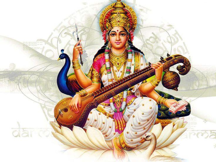 Beautiful Saraswati Hd Wallpaper Free Download