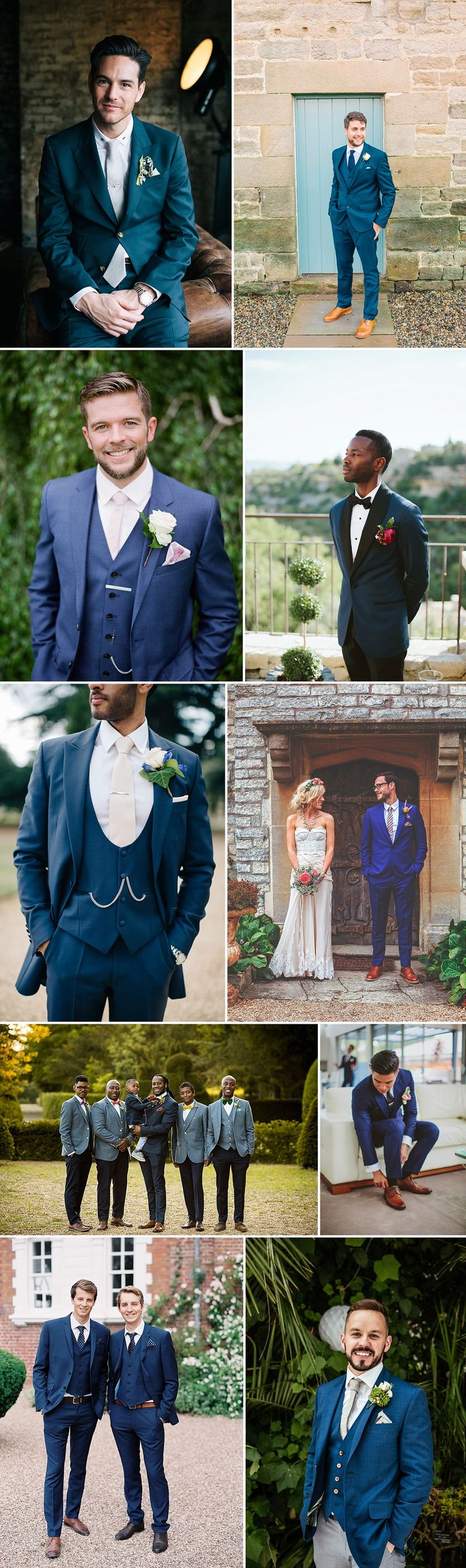 Groom Wearing Navy Blue For Wedding | Groom Fashion Inspiration | Navy Blue Suit
