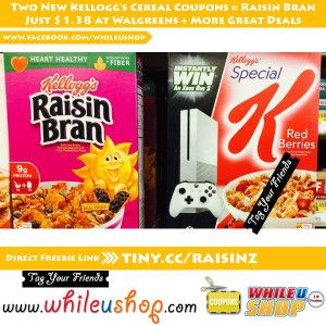 Two New Kellogg's Cereal Coupons #freebies #coupons